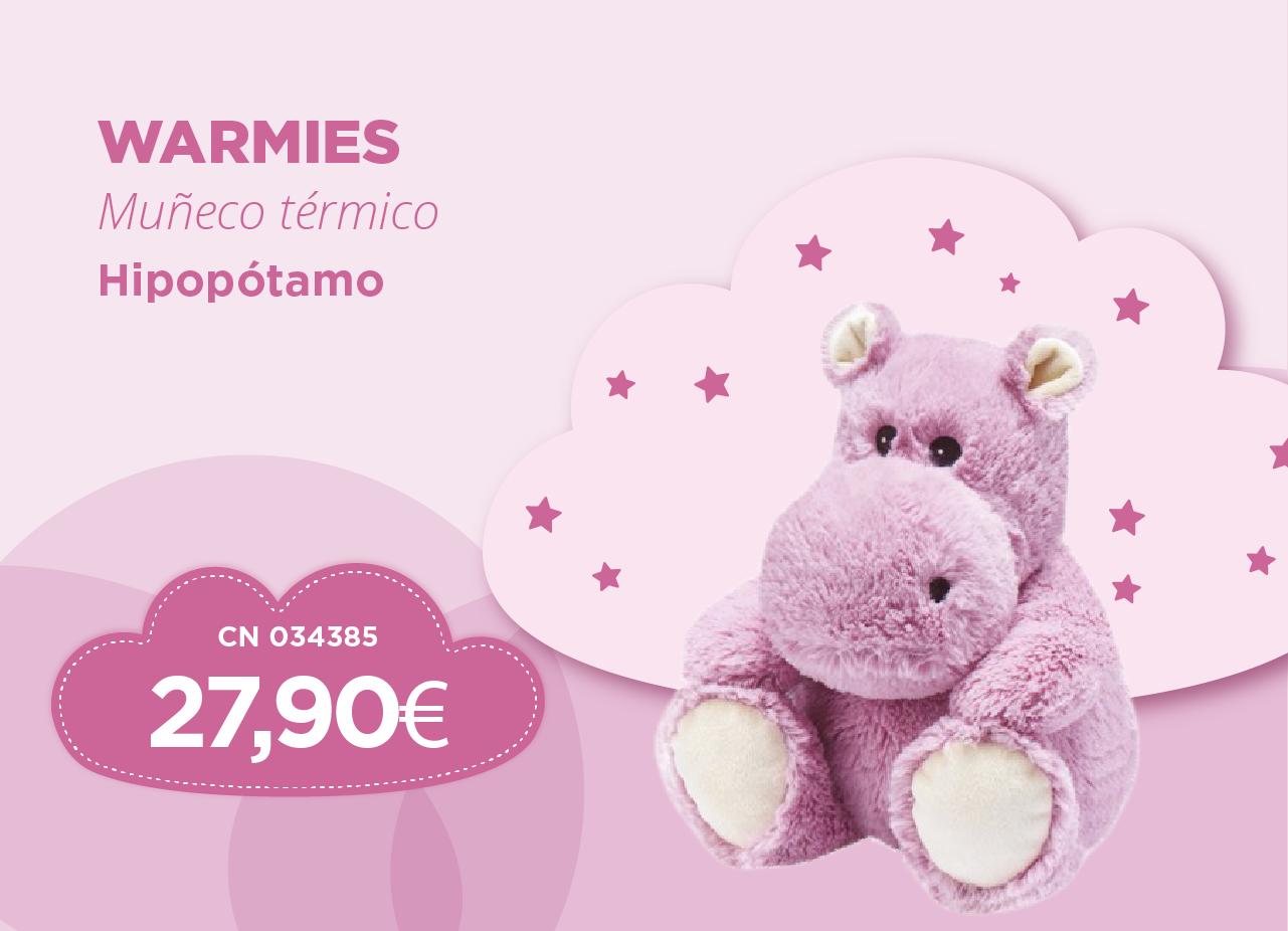Warmies muneco termico hipopotamo