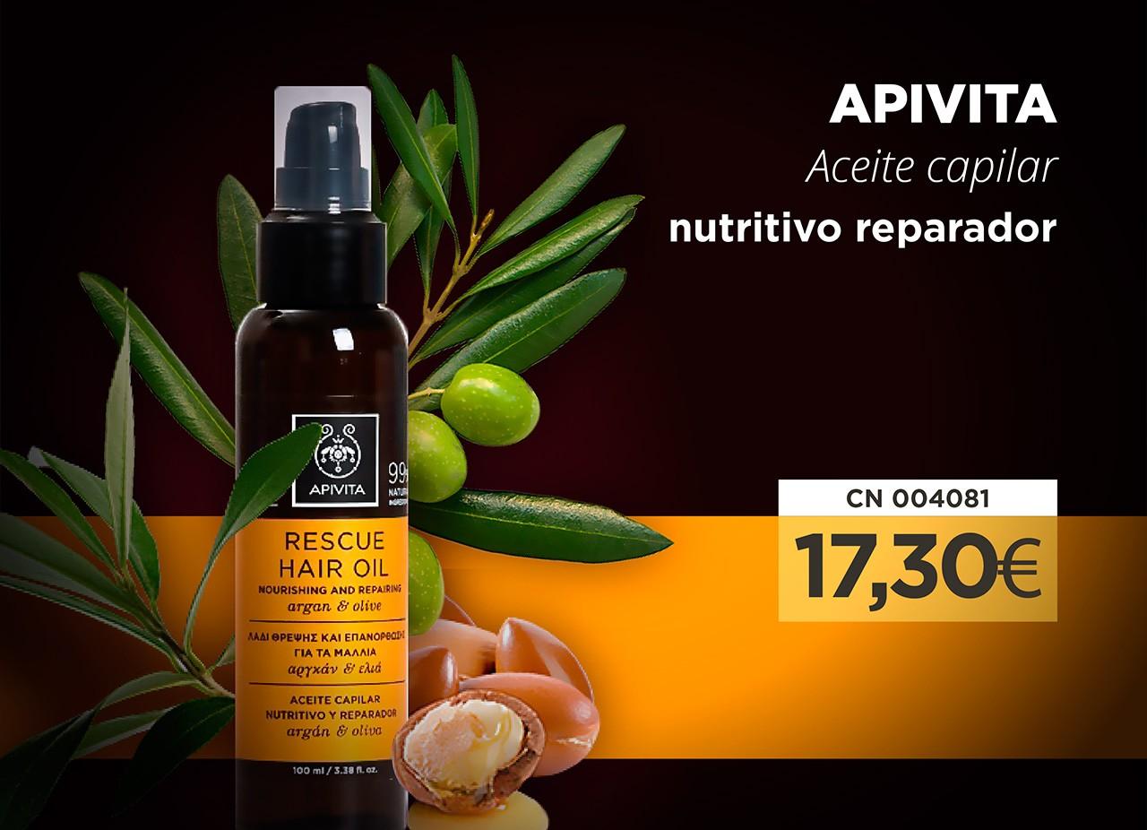 APIVITA Aceite capilar nutritivo reparador