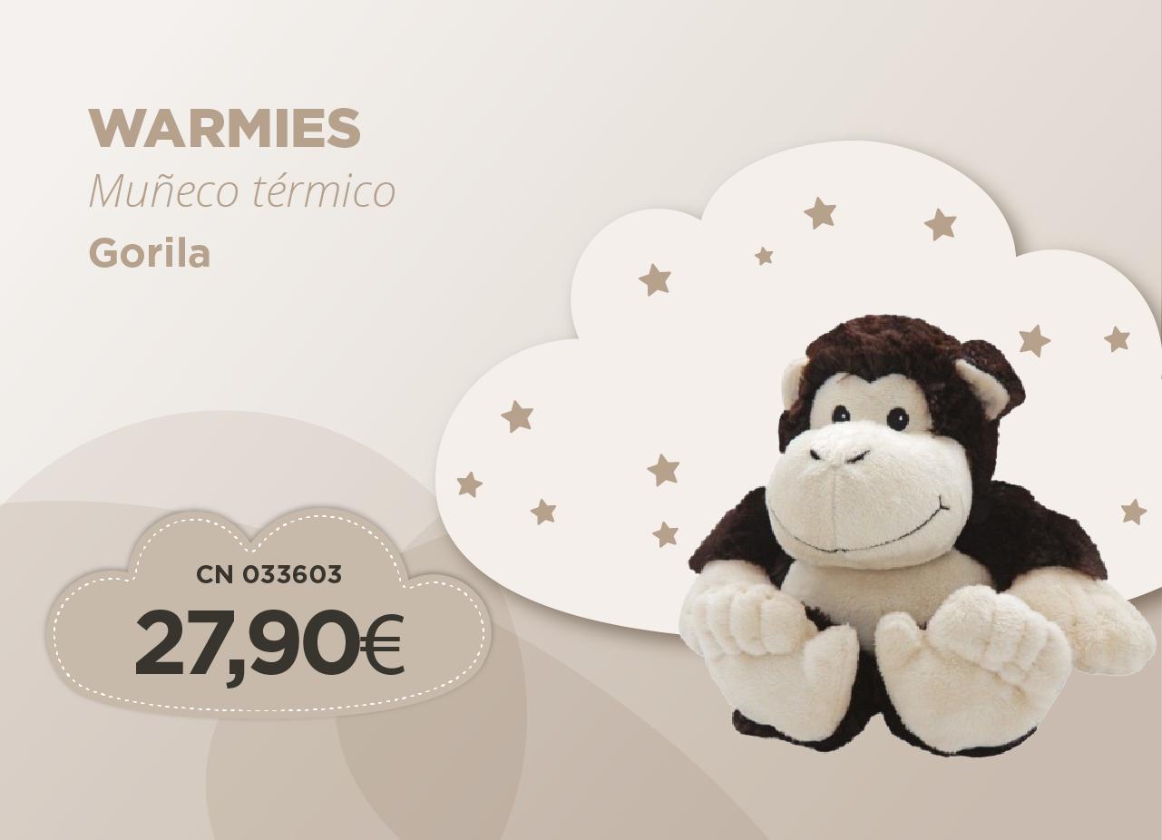 Warmies muneco termico gorila